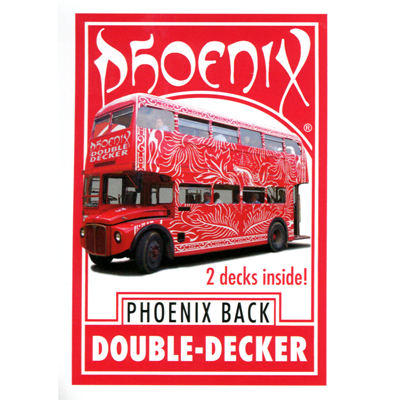 Phoenix Double Decker Blank Faced Red Back Poker Size by Card Shark