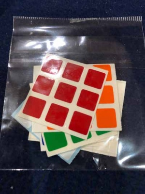 Mini Stickers only for the Mini RD  Cube by Henry Harrius