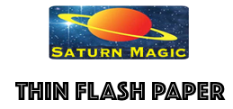 Saturn Magic Thin Flash Paper Sheet approx 200mm x 250mm / 8 x 10 inches